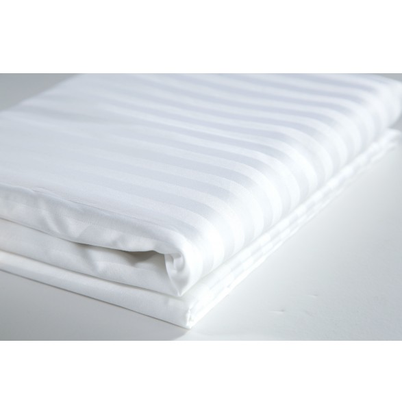Bed Sheet White Double DELUXE 260x280cm